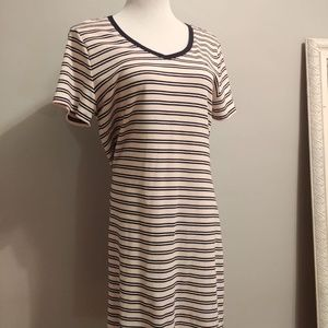 Tommy Hilfiger Pink and Navy Stripe Dress